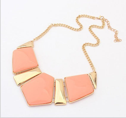 Fashion Jewelry Female Big Imitation Gem Stone Necklace For Women Statement Necklaces 2N025-Dollar Bargains Online Shopping Australia