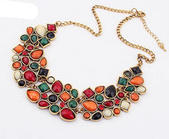New Popular 6 Colors Multicolor Big Pendant Clavicle Chain Necklace Women's Delicate Banquet Jewelry-Dollar Bargains Online Shopping Australia