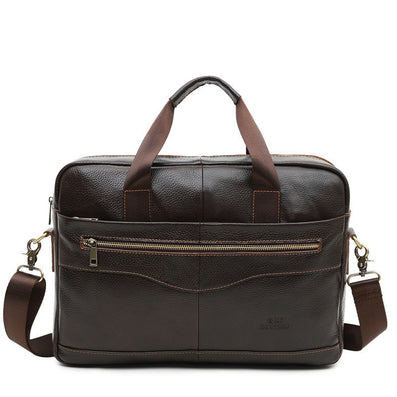 "CROSS OX Genuine Leather Brown Men Briefcase 14"" Laptop Business Bag Cowhide Men's Messenger Bags Luxury Lawyer Handbags HB387F-Dollar Bargains Online Shopping Australia"