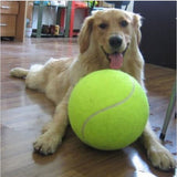 1PC 24CM Big Inflatable Tennis Ball Giant Pet Toy Tennis Ball Dog Chew Toy Signature Mega Jumbo Kids Toy Ball Outdoor Supplies - Dollar Bargains - 1