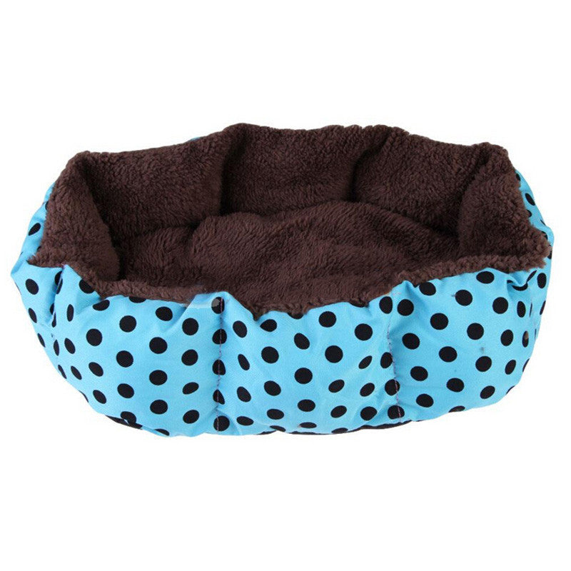 Blue / 40cm 30cm 10cmPet Products Cotton Pet Dog Bed for Cats Dogs Small Animals Bed House Pet Beds Cushion