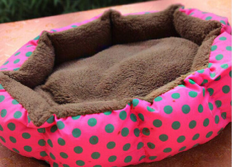Rose / 40cm 30cm 10cmPet Products Cotton Pet Dog Bed for Cats Dogs Small Animals Bed House Pet Beds Cushion