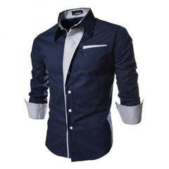 Slim Fashion Men Shirt New Brand Casual Long-Sleeved-Dollar Bargains Online Shopping Australia