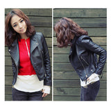 Arrival Autum & Winter Women Motorcycle Leather Jacket Slim Casual Coat-Dollar Bargains Online Shopping Australia