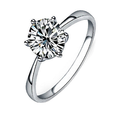 Women Clear Zircon Inlaid Wedding Bridal Engagement Party Jewelry Ring Size 6-9 5LLR-Dollar Bargains Online Shopping Australia