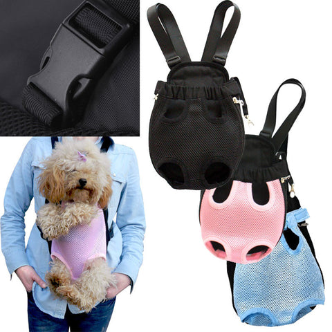 Pet Bag Dog Supplies Cat Carrier Five Holes Backpack Front Chest Backpack Pink Light Blue Black  Pet Products - Dollar Bargains