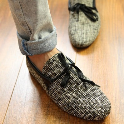 2016 new Top quality Mens Canvas Casual Lace Slip On Loafer Shoes Moccasins Driving Shoes men flats - Dollar Bargains - 6