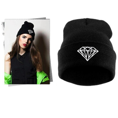 VOGUE Diamond bad hair day knit bonnet winter hat beanies for men women ski skullies-Dollar Bargains Online Shopping Australia