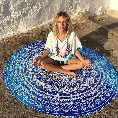 Indian Round Mandala Tapestry Wall Hanging Throw Towel Beach Yo-ga Mat Decor Boho Circle Beach Towel Serviette De Plage-Dollar Bargains Online Shopping Australia