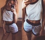 Summer Tracksuit Letter Print Women Costumes Sexy Trendy Suit-Dollar Bargains Online Shopping Australia