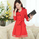 Trench Coat Spring Korean Large Code Lace Slim-Dollar Bargains Online Shopping Australia
