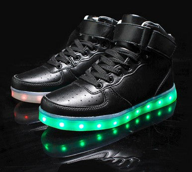 LED Light Up Women Men Shoes Casual Basket luminous For Adults Couples-Dollar Bargains Online Shopping Australia
