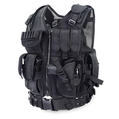 Police Tactical Vest Outdoor Camouflage Military Body Armor Sports Wear Hunting Vest Army Swat Molle Vest Black-Dollar Bargains Online Shopping Australia