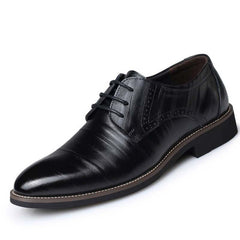 New Oxford Shoes For Men Dress Shoes Genuine Leather Office Shoes Men Flats Zapatos Hombre Black Mens Oxfords BRM-276-Dollar Bargains Online Shopping Australia