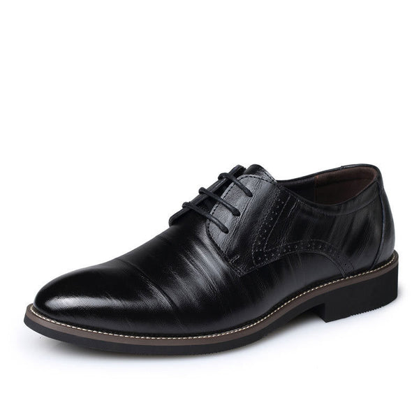 fdf7cce75216 New Oxford Shoes For Men Dress Shoes Genuine Leather Office Shoes Men Flats  Zapatos Hombre Black