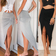 Skirts New Fashion Womens Ladies Ruched Side Split Slim Skinny Slit Maxi Long Pencil Skirt New Arriving Size 6-16-Dollar Bargains Online Shopping Australia
