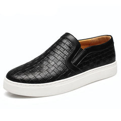 Men Plaited Shoes Slip-on Casual Shoes Bright Platform Round Toe Loafers For Men XMR1303-Dollar Bargains Online Shopping Australia