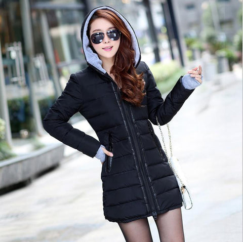 Hot Sales 2016 Fashion Slim New Winter Down Jacket Coat Cotton Down Jacket Sections Ladies Padded Jacket  Top Quality Low Price - Dollar Bargains - 2