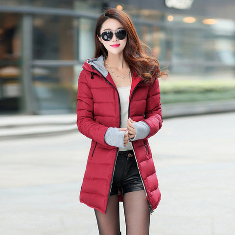 Hot Sales 2016 Fashion Slim New Winter Down Jacket Coat Cotton Down Jacket Sections Ladies Padded Jacket  Top Quality Low Price - Dollar Bargains - 3