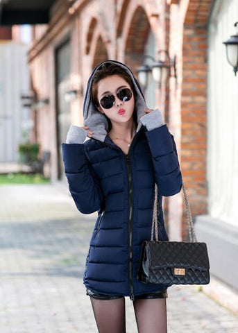 Hot Sales 2016 Fashion Slim New Winter Down Jacket Coat Cotton Down Jacket Sections Ladies Padded Jacket  Top Quality Low Price - Dollar Bargains - 6