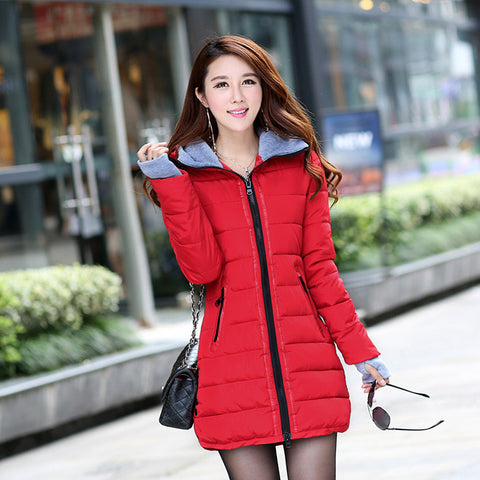 Hot Sales 2016 Fashion Slim New Winter Down Jacket Coat Cotton Down Jacket Sections Ladies Padded Jacket  Top Quality Low Price - Dollar Bargains - 5