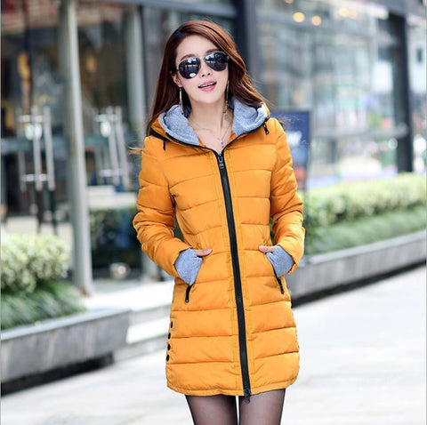Hot Sales 2016 Fashion Slim New Winter Down Jacket Coat Cotton Down Jacket Sections Ladies Padded Jacket  Top Quality Low Price - Dollar Bargains - 4