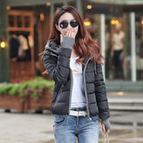 winter jacket women fashion slim short cotton-padded Hooded jacket parka female wadded jacket outerwear winter coat women-Dollar Bargains Online Shopping Australia