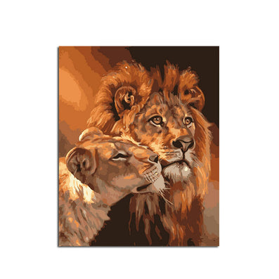 Frameless Lion Kings DIY Coloring Oil Painting By Numbers Kits Drawing Paint On Canvas For Wall Art Picture For living room-Dollar Bargains Online Shopping Australia