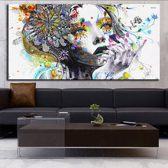 DP ARTISAN Modern wall art girl with flowers oil painting Prints Painting on canvas No frame Pictures Decor For Living Room-Dollar Bargains Online Shopping Australia