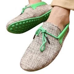 New Fashion Men Summer Shoes Breathable Weaving Shoes Men Lace-up Flats Casual Driving Loafers-Dollar Bargains Online Shopping Australia
