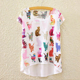 2016 Brand New Cotton cropped t Shirt Women Short Sleeve t-shirts o-neck Causal loose Magic Unicorn T Shirt Summer top for women - Dollar Bargains - 3