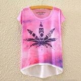2016 Brand New Cotton cropped t Shirt Women Short Sleeve t-shirts o-neck Causal loose Magic Unicorn T Shirt Summer top for women - Dollar Bargains - 6