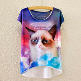 2016 Brand New Cotton cropped t Shirt Women Short Sleeve t-shirts o-neck Causal loose Magic Unicorn T Shirt Summer top for women - Dollar Bargains - 7