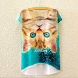 2016 Brand New Cotton cropped t Shirt Women Short Sleeve t-shirts o-neck Causal loose Magic Unicorn T Shirt Summer top for women - Dollar Bargains - 17