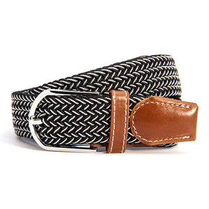 31 Colors Men Women's Canvas Plain Webbing Metal Buckle Woven Stretch Waist Belt - Dollar Bargains - 2