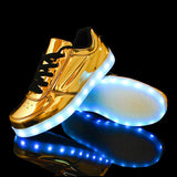 2016 Women Colorful glowing led shoes with lights up  luminous casual shoes simulation  men Couples shoes for adults neon basket - Dollar Bargains - 1