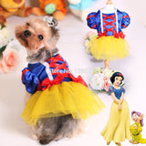 New Dog Tutu Dress Pet Cat Costume Snow White Princess Puppy Dresses for Wedding Party Summer Satin Pet Clothes Skirts 20-Dollar Bargains Online Shopping Australia