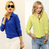 Women Shirt Chiffon shirts Tops Elegant Office Blouse 5 Colors office lady Wear tops Plus Size XXL-Dollar Bargains Online Shopping Australia