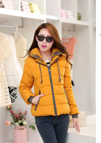 2016 New Fashion Women Winter Down jacket  Big yards Thickening Super Warm Coats Hooded Jacket Splicing Slim Women Coat G1558 - Dollar Bargains - 1