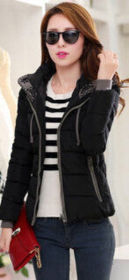 New Fashion Women Winter Down jacket Big yards Thickening Super Warm Coats Hooded Jacket Splicing Slim Women Coat G1558-Dollar Bargains Online Shopping Australia