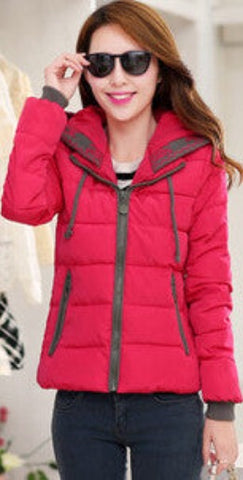 2016 New Fashion Women Winter Down jacket  Big yards Thickening Super Warm Coats Hooded Jacket Splicing Slim Women Coat G1558 - Dollar Bargains - 4