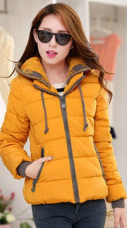 2016 New Fashion Women Winter Down jacket  Big yards Thickening Super Warm Coats Hooded Jacket Splicing Slim Women Coat G1558 - Dollar Bargains - 6