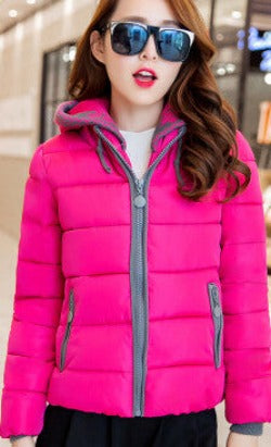 2016 New Fashion Women Winter Down jacket  Big yards Thickening Super Warm Coats Hooded Jacket Splicing Slim Women Coat G1558 - Dollar Bargains - 7