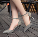 New Fashion Ladies High Heels Buckle Strap Women Pointed Toe Shoes Stiletto Gorgenous Ladies Shoes-Dollar Bargains Online Shopping Australia
