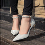 Fashion Ladies High Heels Buckle Strap Women Pointed Toe Shoes Stiletto Gorgenous Ladies Shoes-Dollar Bargains Online Shopping Australia