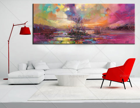 Modern Wall Painting wall picture Home Decorative Art oil Painting colorful sky canvas art Sell Unframed-Dollar Bargains Online Shopping Australia