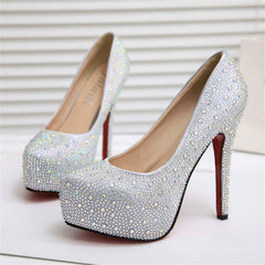 High quality summer new sexy fashion hot women shoes diamond high heels waterproof stiletto cross tied bride wedding pumps shoes-Dollar Bargains Online Shopping Australia