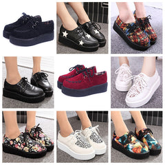 Creepers Shoes Woman plus size 35-41 platform Women Flats Shoes-Dollar Bargains Online Shopping Australia