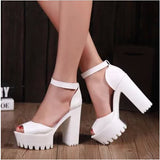 women's summer shoes gauze open toe sandals platform shoes female thick heel platform high heels female sandals-Dollar Bargains Online Shopping Australia