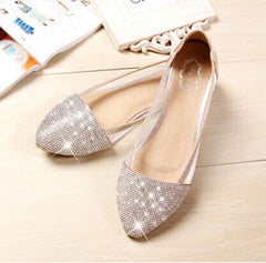 Flats shoes women Plus Size 35-41 Fashion Flats for Women Pointed Toe Soft Flat Heel Shoes Rhinestone flats-Dollar Bargains Online Shopping Australia